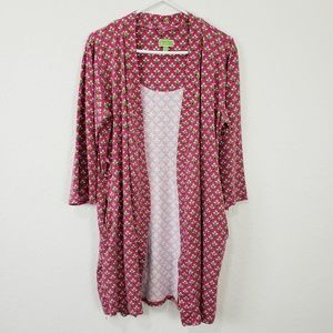 Vera Bradley Intimates & Sleepwear - Vera Bradley | Pink Green Cotton Robe Size L/XL